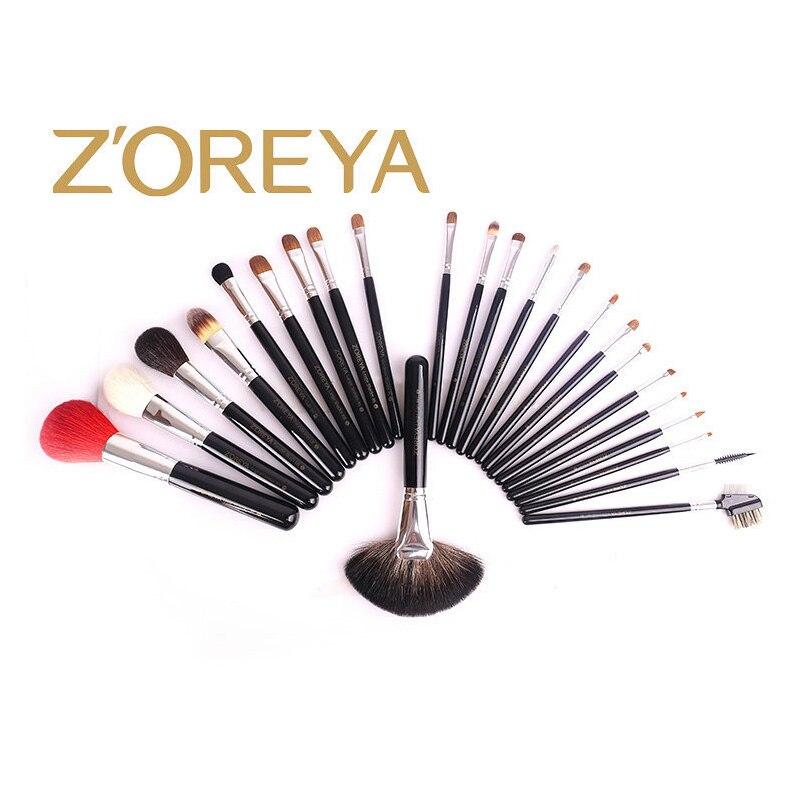 Набор кистей для макияжа, 24 набора кистей, черная деревянная ручка, Профессиональный набор кистей для макияжа, высококачественные косметические инструменты