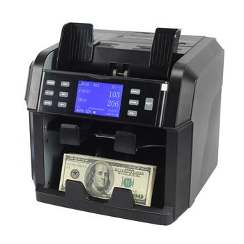 2 CIS fałszywe pieniądze detektor czarna maszyna licząca z drukarką do banku banknotów wykrywacz liczarka banknotów USD PUR EURO GBP tanie i dobre opinie xindabill Ładowanie od przodu Chemia 50-110 90*190 mm 500 PCS 220 PCS Brak 800 1000 1200 notes min Detecting Banknotes