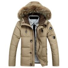 Мужская новая хлопковая Толстая куртка зимняя новая теплая Модная флисовая куртка пальто с меховым воротником Мужское пальто с меховым воротником парки