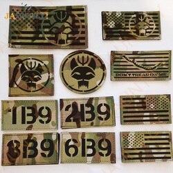 Selo equipe ir infravermelho reflexivo remendos de camuflagem marinha selos swat remendos americano eua bandeiras emblemas tático remendos militares