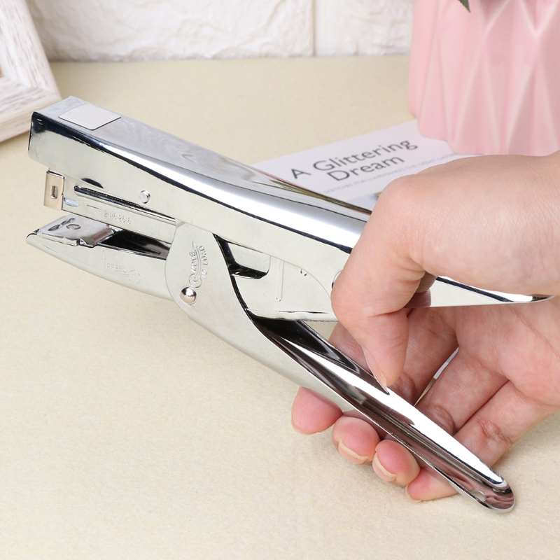 Durable Metal Stapler Heavy Duty Paper Plier Stapler Office Accessories Home Stationery