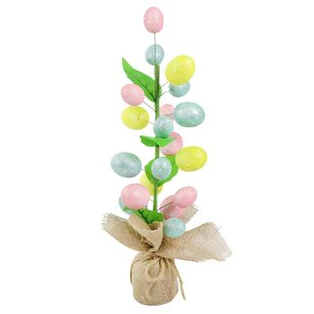 1pc MIni Easter Tree Decoration Easter Tree with Eggs Decoration Party Favor