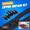 12pcs Universal Instant Zipper Repair Kit DIY Home Tool Zip Slider Teeth Rescue New Design Zippers For Sewing Clothes
