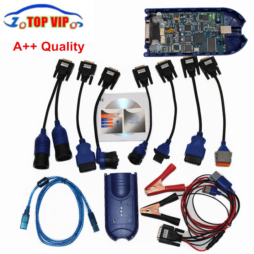 Full Set USB Link 125032  Heavy Duty Diesel Truck Diagnose Scanner Tools Via DHL