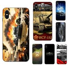 Caixa Do Telefone de luxo Diy Jogo World Of Tanks Para Apple iPhone 4 4S 5 5S SE 6 7 6S 8 Plus X XS Max XR(China)