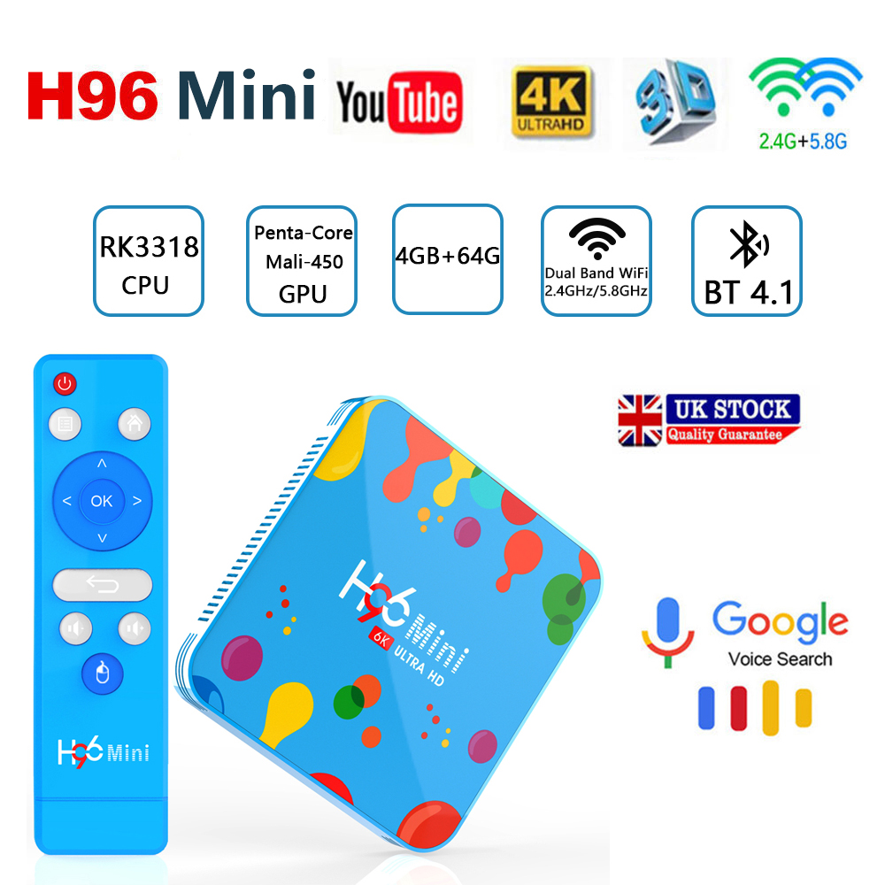 box TV Android Child H96 Mini H6 Quad Core H 265 Wifi HD tv box Built in software Youtube 4K media Player smart tv iptv boxes in Set top Boxes from Consumer Electronics