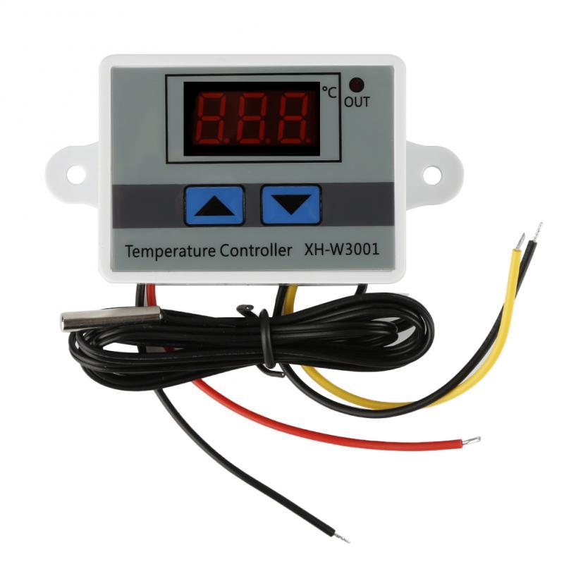 220V Digital LED Temperature Controller 10A Thermostat Control Switch Probe Temperature Control(China)