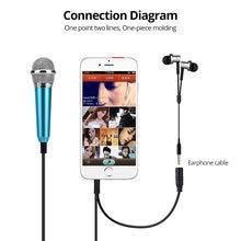 FONKEN Mini Mikrofon cep telefonu için taşınabilir cep telefonu Mic 3.5mm cep telefonu Mikrofon android telefon şarkıcı Mikrofon Metal