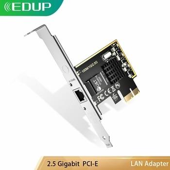 EDUP RJ45 10/100/1000/2500Mbps NIC Controller LAN Adapter Converter PCI-E PCI Express Network Card 2.5 Gigabit Ethernet lr link 9804bf 4sfp quad port 10gb ethernet adapter pci express fiber optic network card nic intel xl710 compatible xxv710 da1
