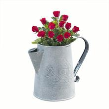 Vintage Rural Style Iron Vase Handle Flower Garden Shabby Tub Basket Pot Succulent Plants Bucket For Home Decor