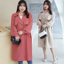 Spring Autumn Winter New Womens Casual Wool Blend Trench Coat Oversize Long with belt Women Cashmere Outerwear