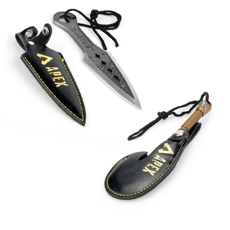 Quieto Battle Royale Men Game Apex Legends Keyring Evil Spirit Dagger Knife Keychain Cool Weapon Model Fans Gifts Dropshipping
