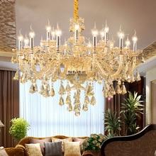 European Luxury Candles Gold Chandeliers Dining Rooms Villas Barbershop Hotel Lamps Crystal Chandelier Lighting