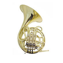 F/Bb French Horn with case One piece Bell 315mm 4 valves French horns Musical instruments Professional 2015 new jazzor 4 key double french horn entry model bb f wind instruments french horns jzfh e310 monel valves with padded box
