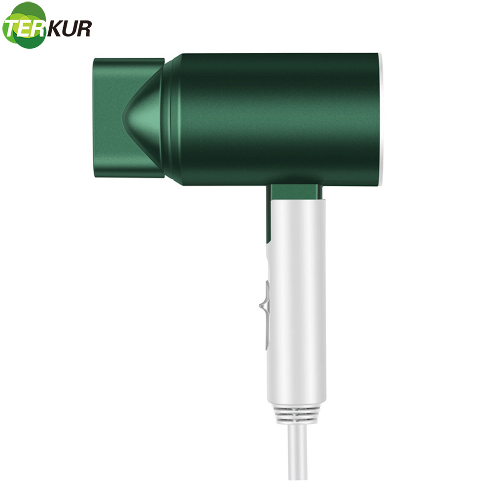 Anion Hair Dryer Hot and Cold Air Blow Dryer 1600W Household Travel Low Noise Foldable Handle DC Motor Euro Plug UL Hairdryer