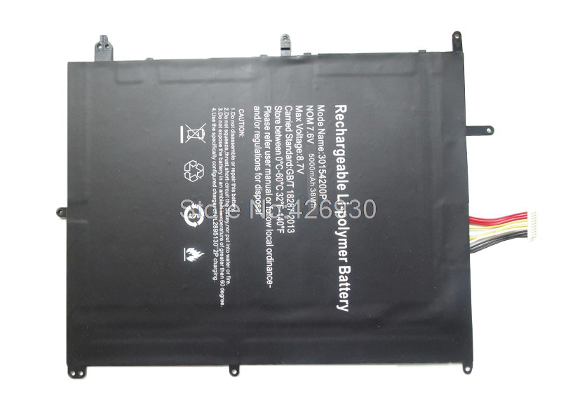 Battery For Jumper For EZbook X4 MB11 MB12 3 Plus VL-2874180-2S NV-2874180-2S TH133K-MC TH133A-MC 30154200P 7.6V 5000mAh 38Wh