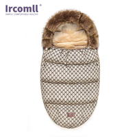 Ircomll Newborn Baby Stroller Sleeping Bag Newborn Sleepsacks Winter Warm Sleepsack Windproof For Infant Wheelchair Envelopes