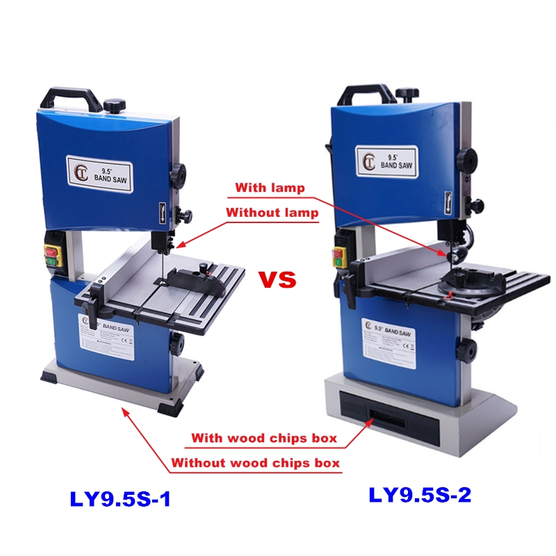 Multifunctional  Curve Saw Woodworking Band Saw Machine Small Curve Saw 220V 9.5-inch