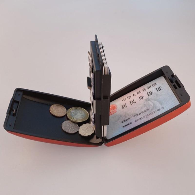 Multifunction Aluminum Card Wallet RFID Blocking Credit Card Holder for Men Women Travel Business Coins Cash