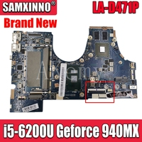 SAMXINNO LA-D471P Motherboard For Lenovo 710-14ISK 710-14IKB LA-D471P laptop Mainboard with i5-6200U Geforce 940MX