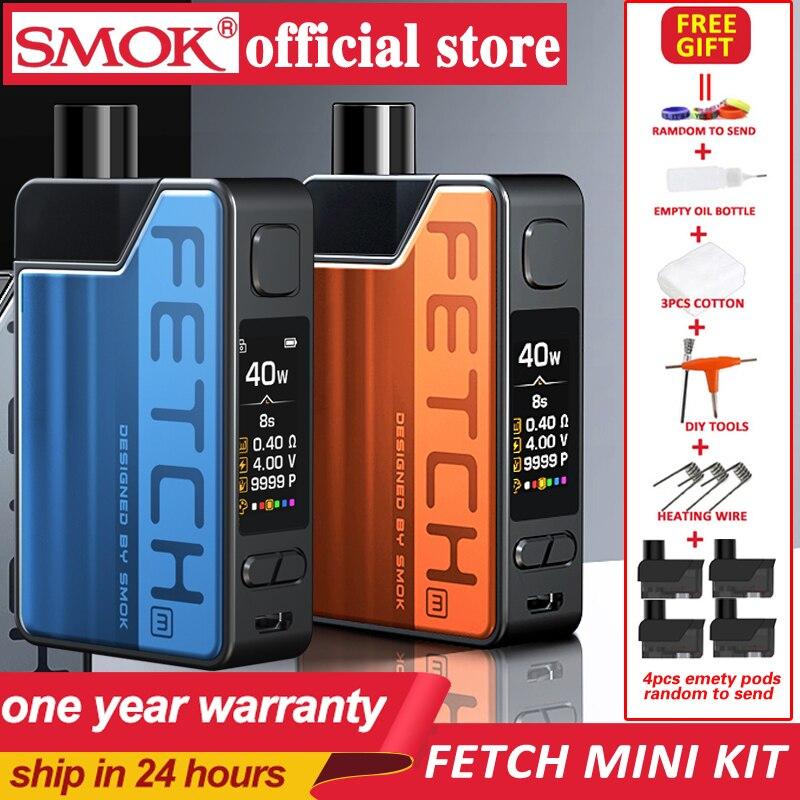 New SMOK Fetch Mini Pod Vape Kit 3.7ml Cartridge 1200mAh Battery Electronic Cigarette With RPM Mesh Triple Coil VS RPM 40 Kit
