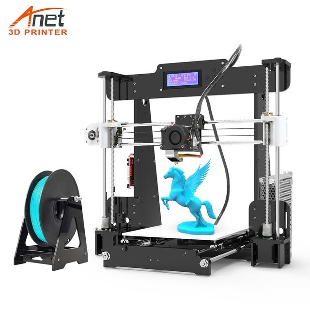 חדש Anet A8 שולחן העבודה DIY 3D מדפסת ערכת Impresora 3D עם מיקרו SD כרטיס USB חיבור