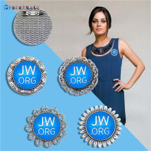 GraceAngie 1pc Blue Glass Cameo Lapel Pins JW org Jehovahs Witnesses Pin Alloy Collar Brooch Flatback Cabochon Jewelry