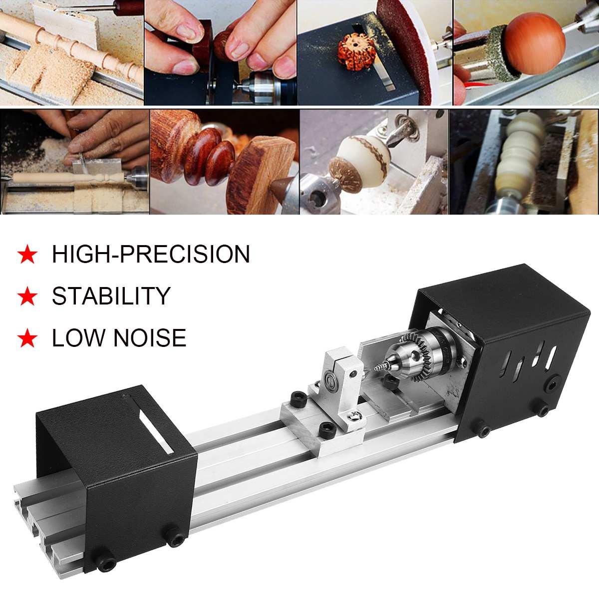 100W Mini Drehmaschine Perlen Maschine DIY Holzbearbeitung Drehmaschine Polieren Schleifen Bohrer Werkzeug Carving Cutter Holz Drehmaschine Polieren Bohrer Werkzeug