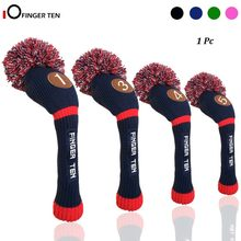 Pom Pom Knitted Golf Club Head Covers Woods Driver Fairway Hybrid Head Cover 1 3 4 5 for Men Women Kids