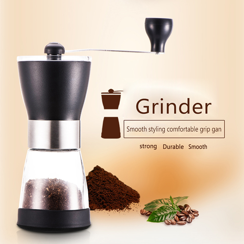 Household Manual Coffee Bean Grinders Adjustable Kitchen Crank Hand Pepper Mills