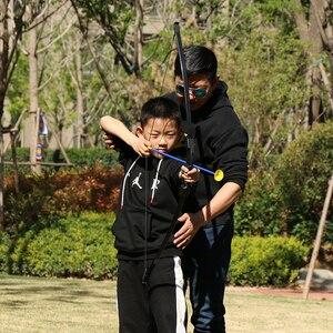 Image 5 - Arco de tiro con 15 18lbs para niños, arco para jugar al aire libre, con flechas, accesorios de tiro con arco