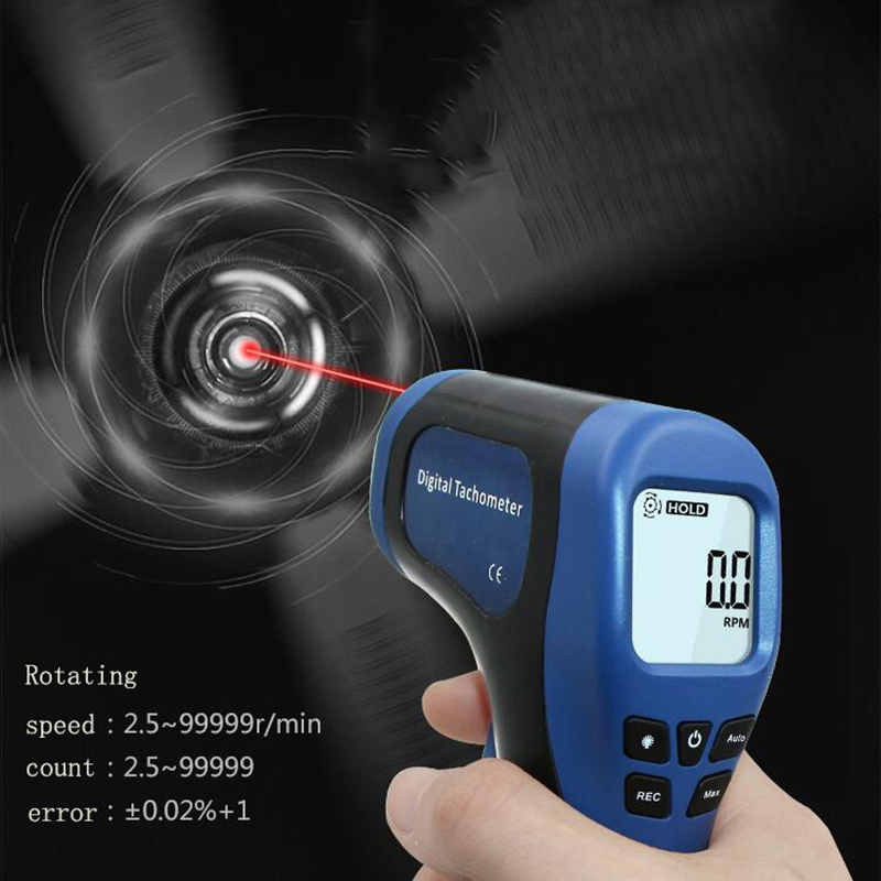 Digital laser tachometer speed measurement speedometer high quality non contact digital tachometer tachometer tachometer Speed Measuring Instruments     - title=
