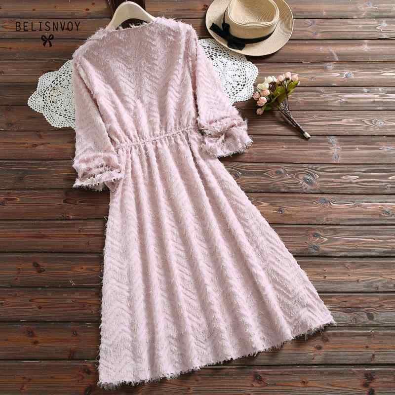 原宿森ガールかわいいドレスレース刺繍ピーターパン襟甘いロリータベルベット Vestidos ランタンスリーブエレガントなミディドレス