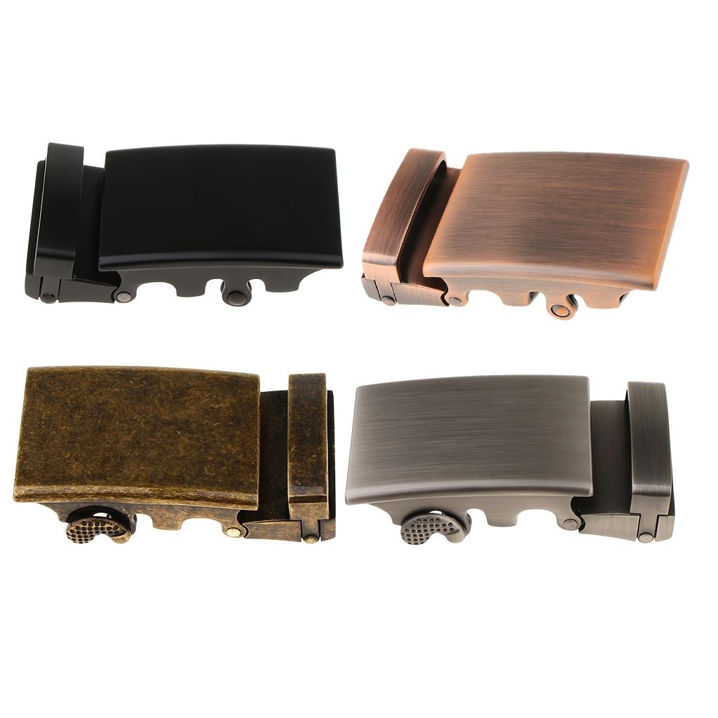 Mens Ratchet Belt Buckle Automatic Slide Buckle For Belt Strap 34-36mm