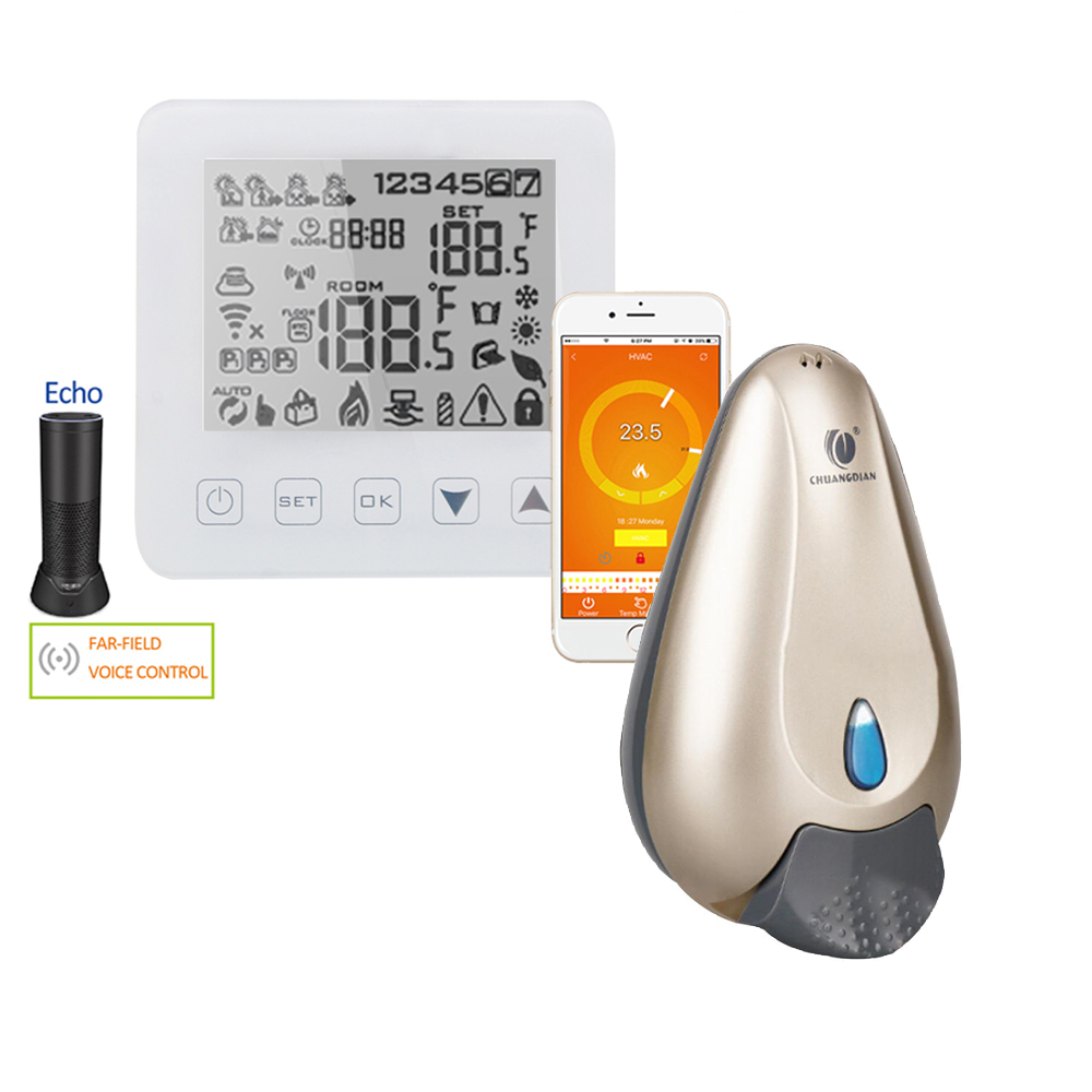 WiFi Thermostat Smart Alexa Thermostat Water/Gas Boiler Heating Touchscreen Room Temperature Controller Liquid Soap Dispenser