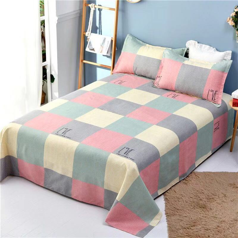 3pcs/Set Bed Sheet Winter Thickness 100% Cotton Solid Bed Mattress Set <font><b>Home</b></font> <font><b>Textile</b></font> Bedding Sets Bed Sheet With Pillow <font><b>Covers</b></font> image