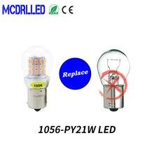 цена на Mcdrlled PY21w Led 1056 Bau15s Bulb For Skoda Superb Octavia 2 Fl 2010 2011 2012 2013 Led Daytime Running Light Drl Lamp
