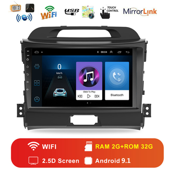 Car Android 9.1 2 din auto Radio multimedia player for KIA sportage 2010 2011-2016 Head Unit gps navigation autoradio video image