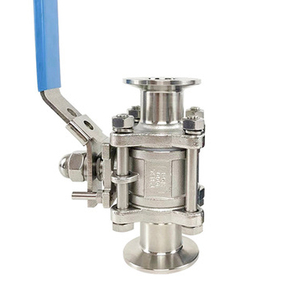 """Image 5 - 1/2"""" 3/4"""" 1"""" SS304 Stainless Steel SS316 Sanitary Ball Valve 3 Three Piece 1.5"""" 50.5mm Tri Clamp Ferrule Type For Homebrew Diary"""