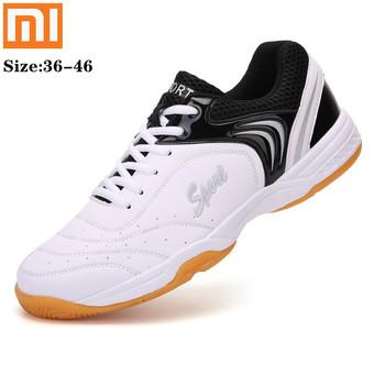 Xiaomi profesjonalne buty tenisowe mężczyźni lekkie tenisówki Breahtable buty do badmintona mężczyźni wysokiej jakości tenisówki tanie i dobre opinie CN (pochodzenie) LIFESTYLE Zapewniające stabilność Podłoga PCV Dla osób dorosłych oddychająca Masaż Średnia (B M)