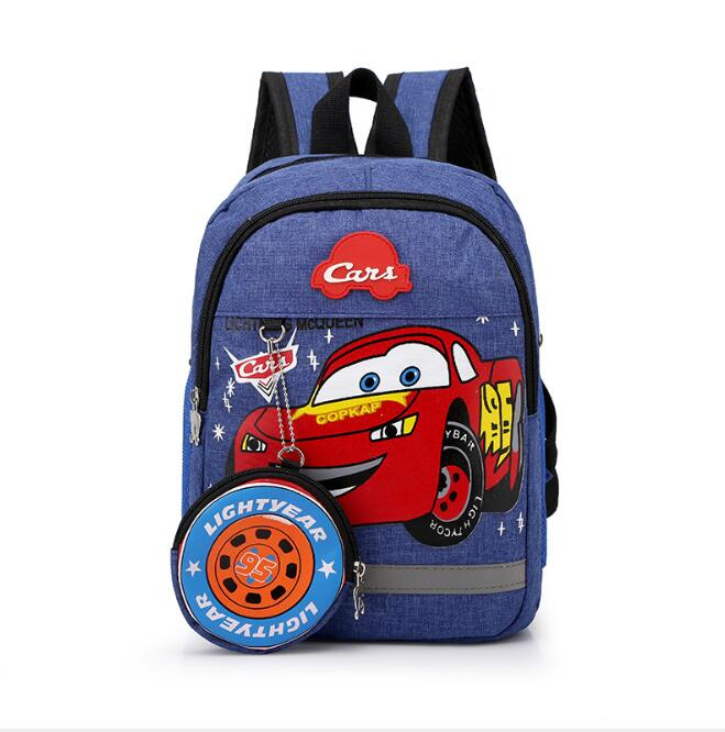 Disney Kids Boy Girl 3D Car Backpack Schoolbag Kindergarten Bags Child Cartoon Travel Plush Toy Backpacks Gift