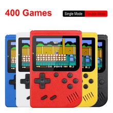 Retro taşınabilir Mini el Video oyunu konsolu 8-Bit 3.0 inç renkli LCD çocuklar renk oyun oyuncu dahili 400 oyunları