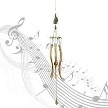 Campanas de viento de cobre Vintage de Metal de 6 tubos a prueba de Rustproof Iglesia bendición viento campanas de estilo chino bendición adornos música de viento