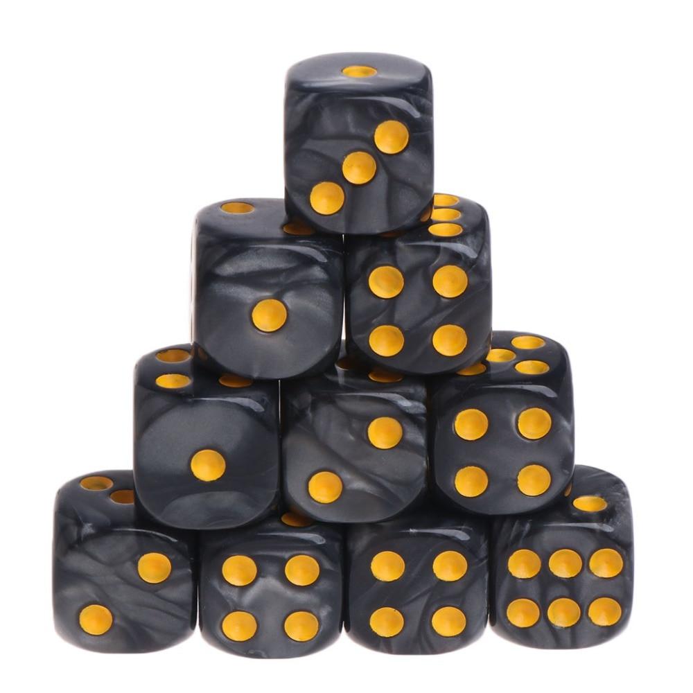 10 pçs/set dados poliédricos acrílicos para trpg, jogo de tabuleiro au20 19, dropship