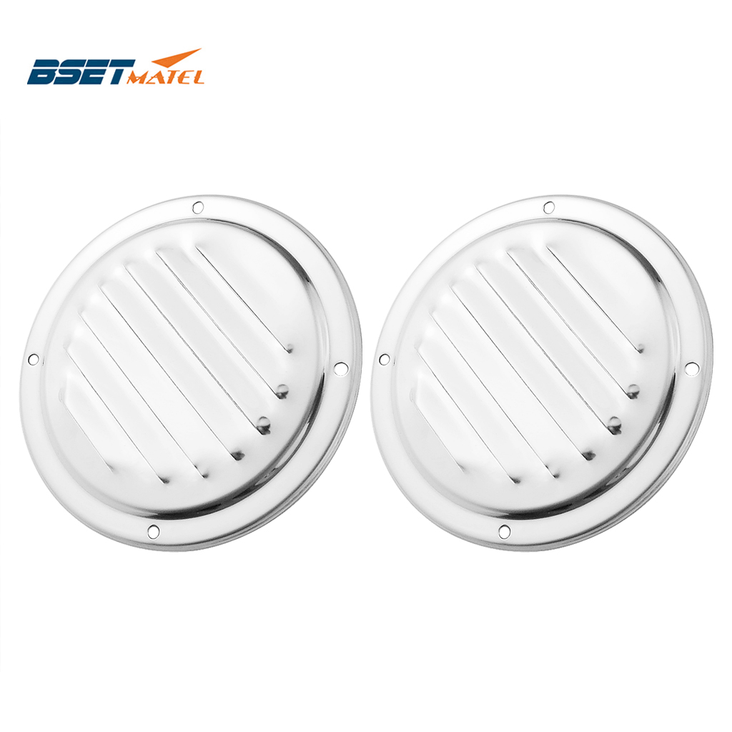 2PCS Marine Grade Stainless Steel 316 Boat Marine Round Air Vent Louver Vent Grille Ventilation Louvered Ventilator Grill Cover