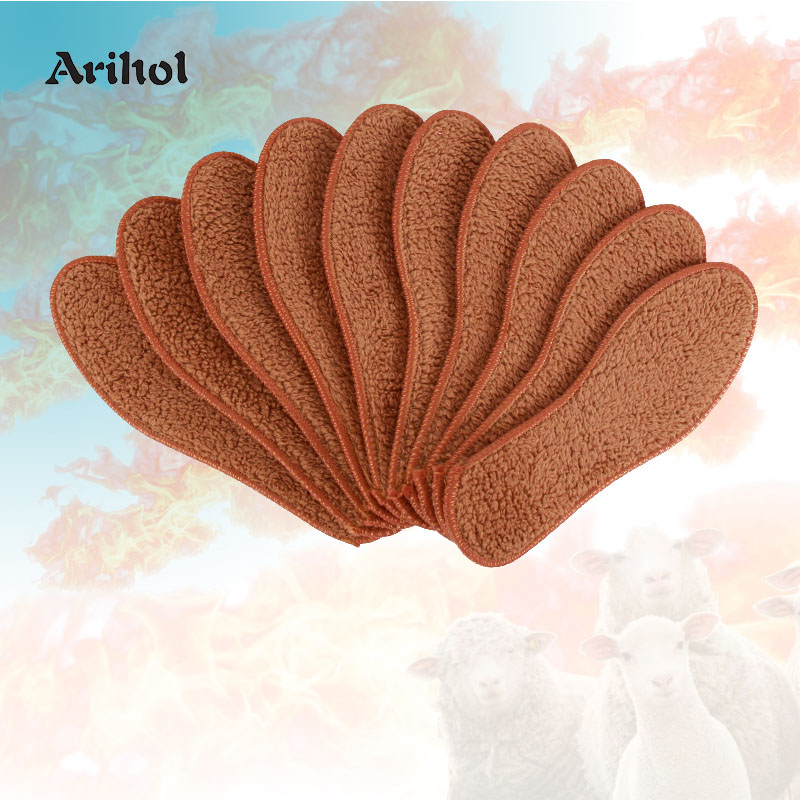 1 Pair Soft Wool Felt Warm Insoles For Men Women, Winter Insole Pad For  Boots Sneakers Heated Snow Boot Inner Shoe Sole