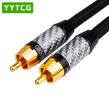 цена на RCA to RCA Male to Male Digital Coaxial Cable Stereo Audio Cable OD7.0 Braided 1M 2M 3m 5m  RCA Video Cable for TV Amplifier