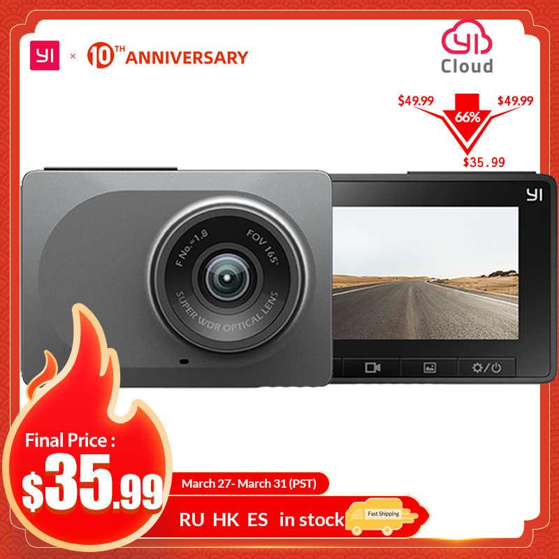 """YI cámara de salpicadero era 2,7 """"pantalla Full HD 1080P 60fps 165 grados gran angular coche DVR vehículo cámara de salpicadero con g-sensor visión nocturna ADAS"""