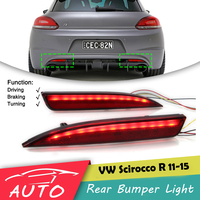 LED Rear Bumper Tail Light For VW Scirocco R 2011 2012 2013 2014 2015 Brake Lamp