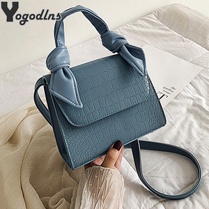 Mini Small Square Bags for Women Hand Designer Luxury Brand PU Leather Shoulder Bag Work Lady Stone Pattern 2020 Purse
